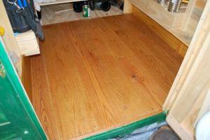 Oak floor with varnish.