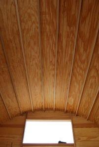 Plywood panels laid on.