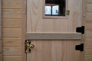 Door hardware.