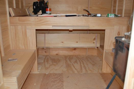 fitting lid/bed base in under bunk