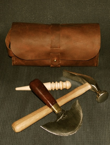Dopp kit and some leather working tools I use to create items like this.