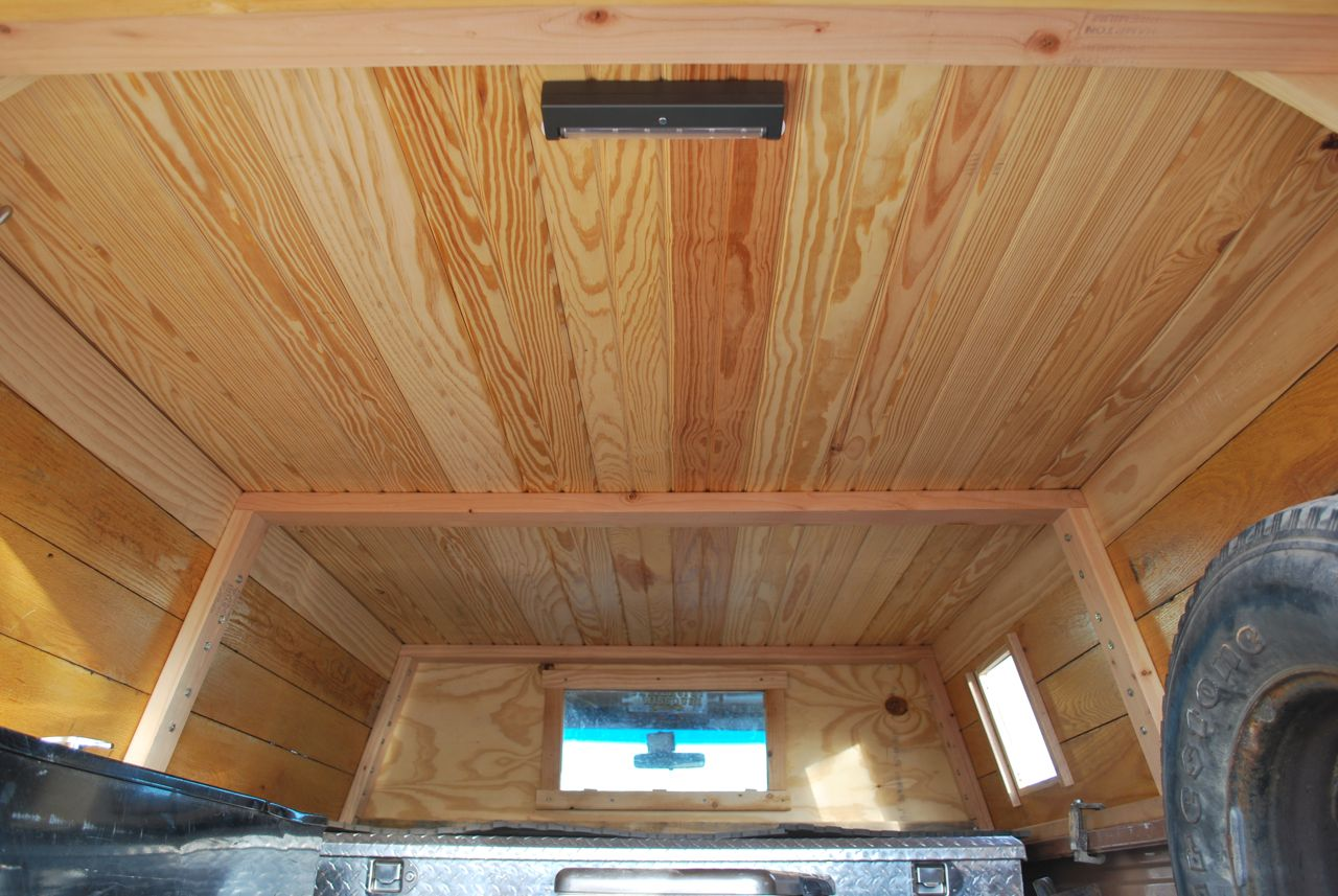The next step will be to add a vent or skylight to let moisture out ...
