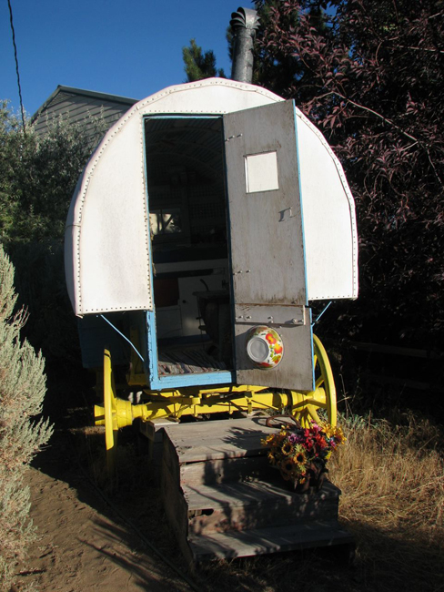 Classic Sheep Wagon; Dutch Door, Wash Pan Hanging ...