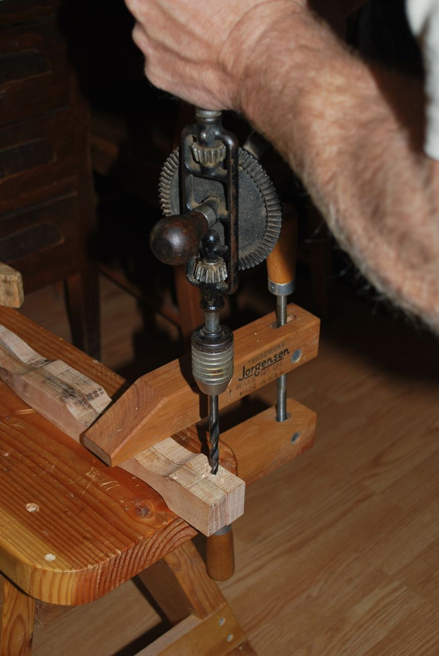 Drilling for the blade and handle connection.