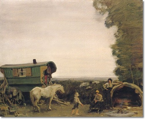 alfred-munnings-gypsies-in-hampshire