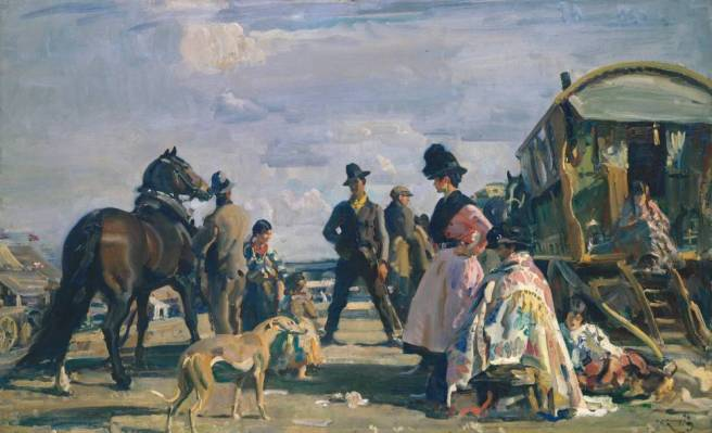 Sir Alfred Munnings, 1919, Epsom Downs - City and Suburban Day 1919