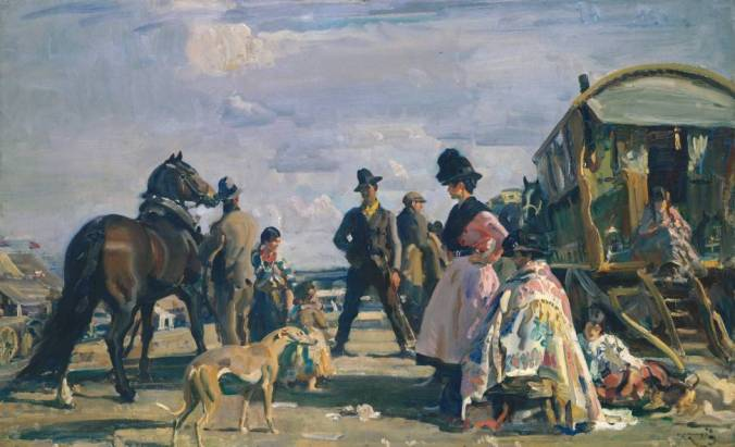 Epsom Downs - City and Suburban Day 1919 by Sir Alfred Munnings 1878-1959