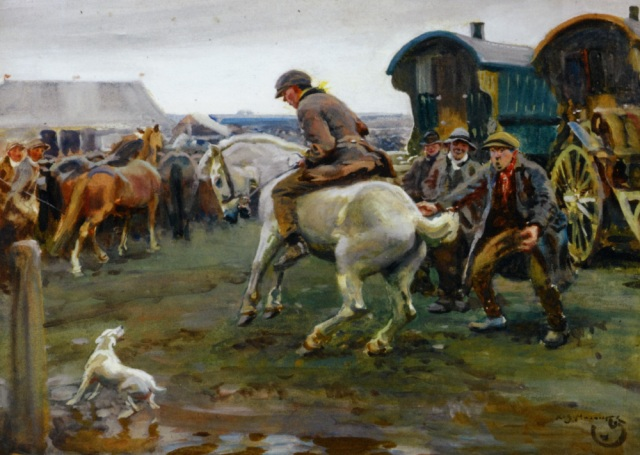 Munnings_Alfred_James_An_Ancient_Rebel_Watercolour_and_Bodycolour_on_Canvas-large