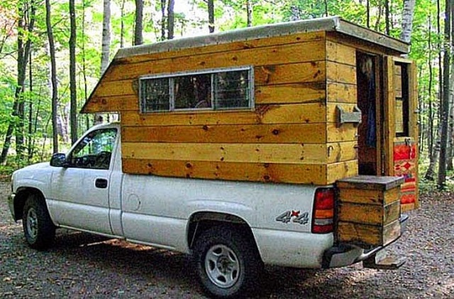 Home made truck campers joy studio design gallery best for Cabover house plans