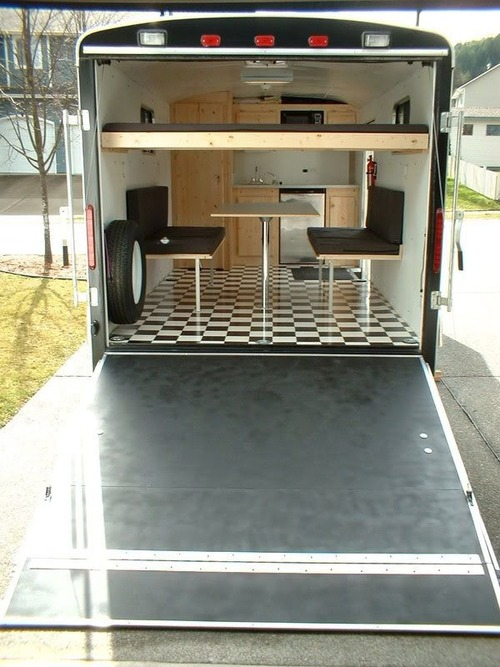 Cargo trailer conversion preindustrial craftsmanship for 7x12 kitchen ideas