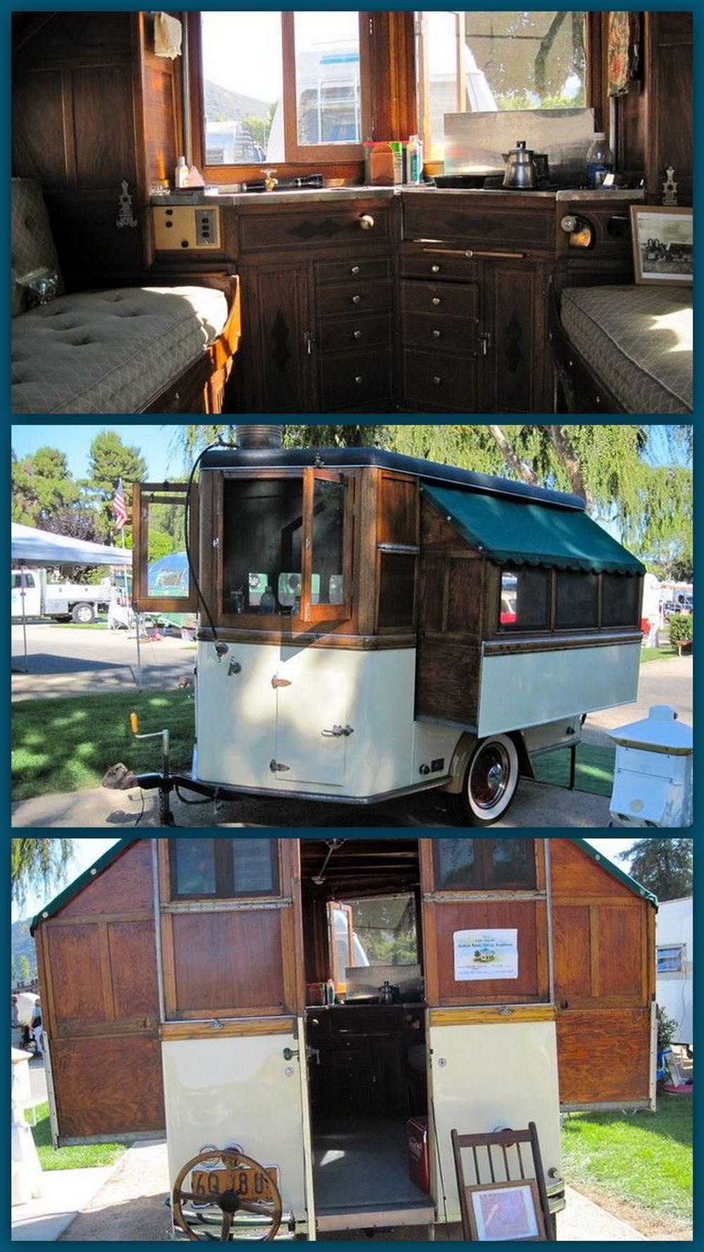 Early Home Built Camper Preindustrial Craftsmanship