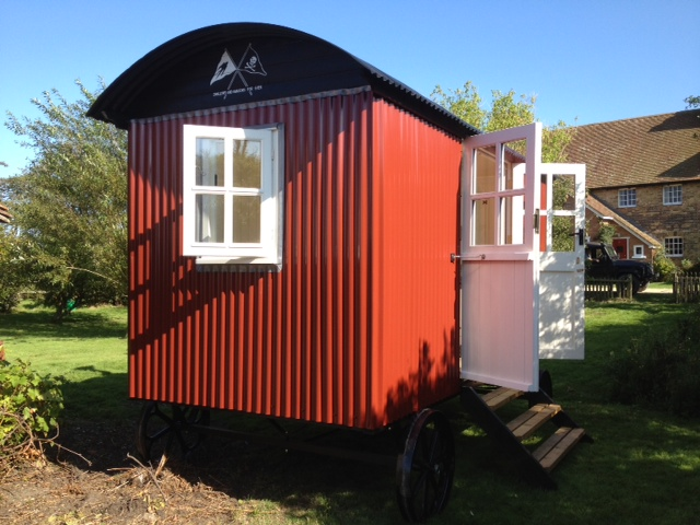 Plankbridge Shepherd Huts from Dorset, England.  Traditional huts, not for long distance travel but fine for short moves.  Nice designs.