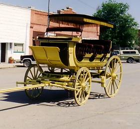 Engel's Coach Shop  Joliet, Montana.  Master Wheelwright and makers of horse drawn vehicles.