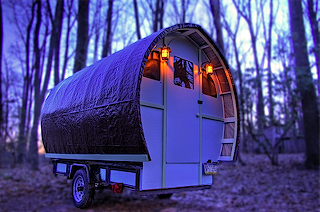Looking for an inexpensive plan to build your own car-towed caravan?  This is the answer.  Timothy Lemke even has a book with full plans.
