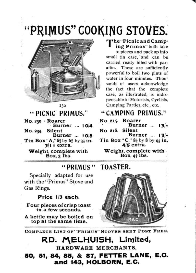 Primus Stove Accessories | Preindustrial Craftsmanship