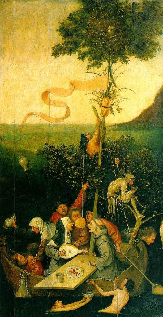 Ship of Fools (painted c. 1490–1500) by Hieronymus Bosch