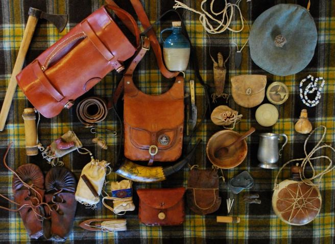 Some of my camping gear mostly inspired by the period from 1745-1812, prior to major industrialization.