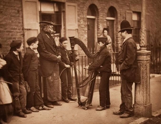 Italian musician. London circa 1877.