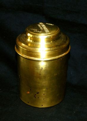 Cigar canister; a perfect fit.