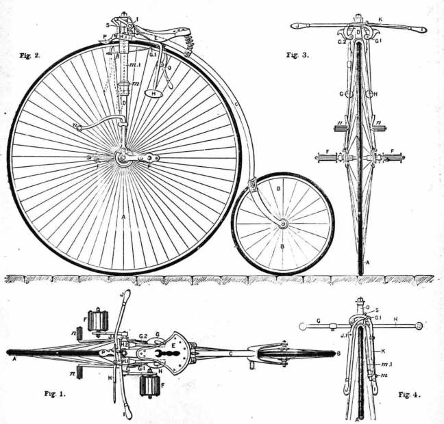 Penny Farthing Schematic, 1890.