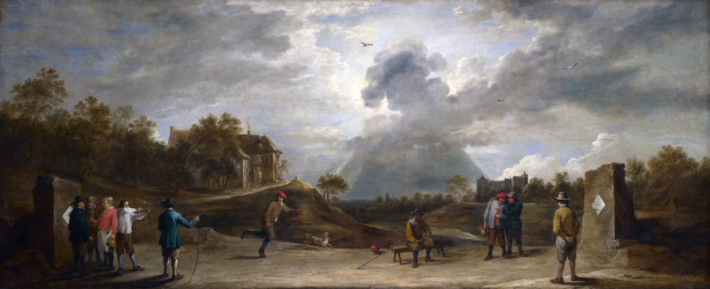 TENIERS_the_Younger,_David_-_Peasants_at_Archery_(1645)