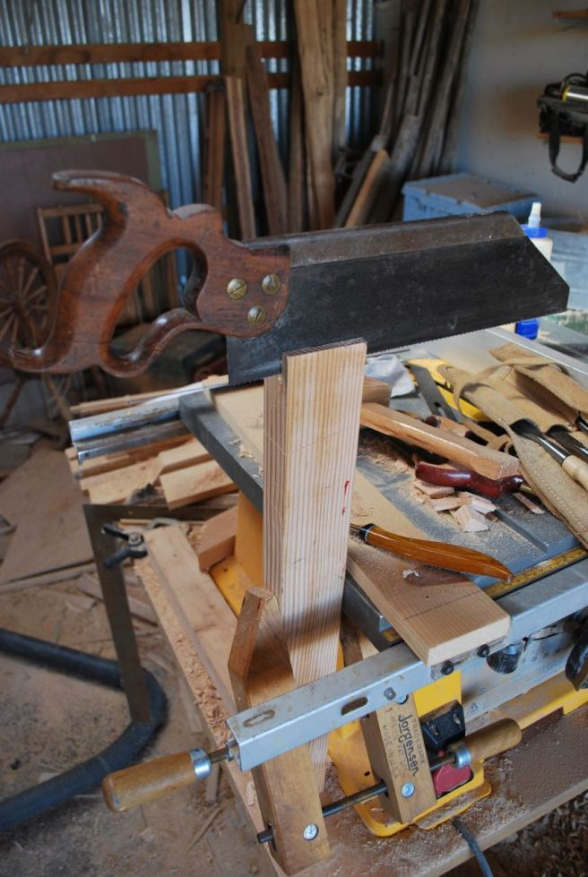 Some aged fir being integrated into a new portable workbench.