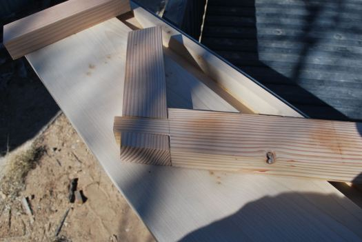 First dovetail on the saw bench.  A little experiment.