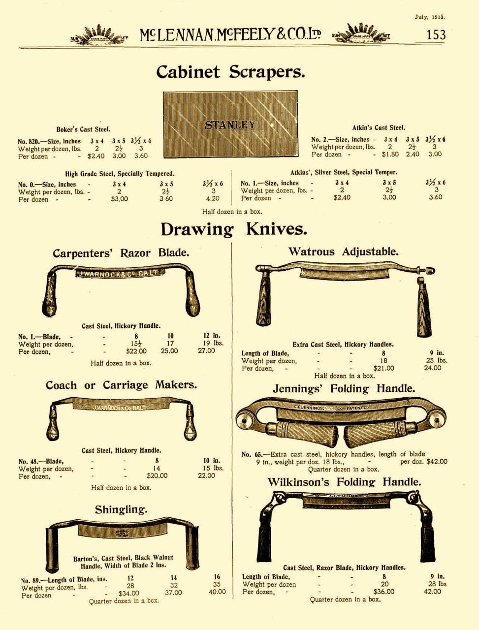 Draw Knives