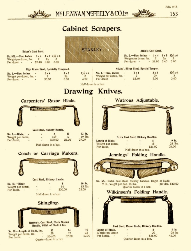 Drawknives