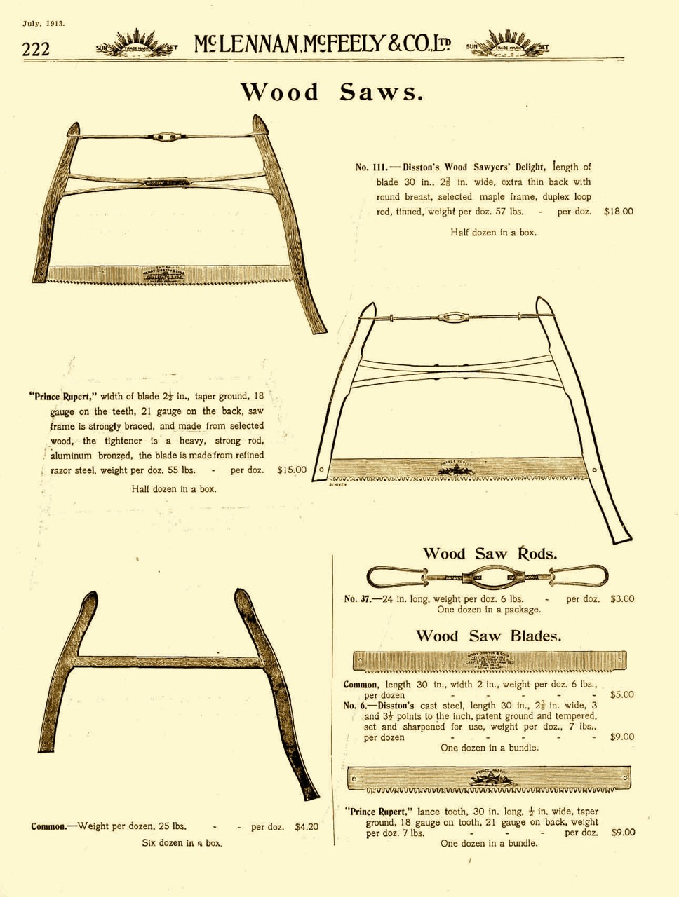 The frame saw.  Virtually every house in North America contained one of these prior to oil and gas heat.