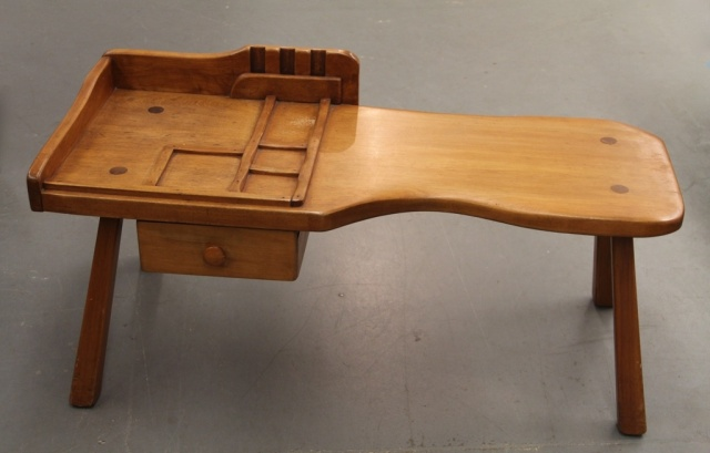 Genuine-Cushman-Colonial-Creations-Cobblers-Bench-Coffee-Table-245-Dealer-5534
