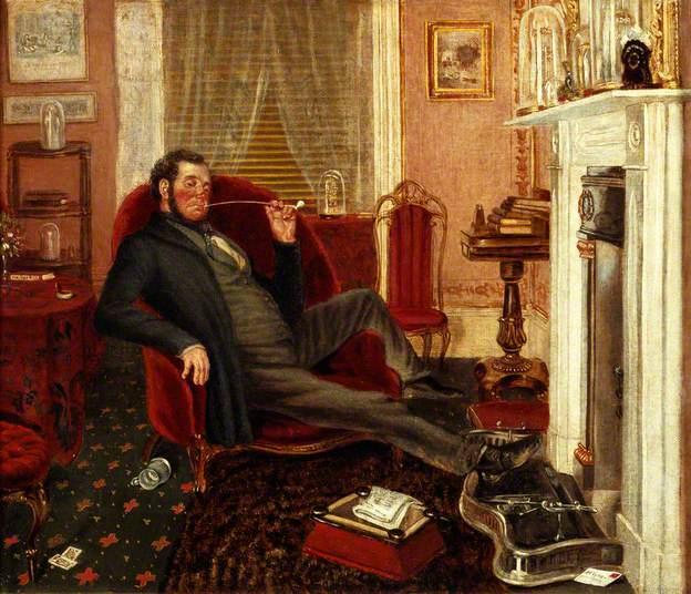 Comfort in the parlour. Artist, John Edward Soden, ca.1836–1897.