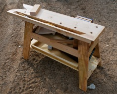The bench's small size will allow it to pack easily into the truck, even holding items in the tills.