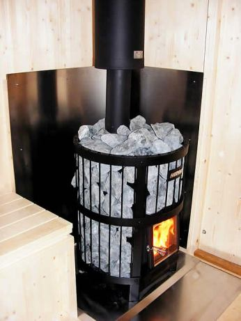 Beautiful sauna stove.