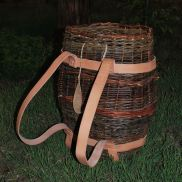 Willow pack basket I made several years ago. The straps were obviously new then.