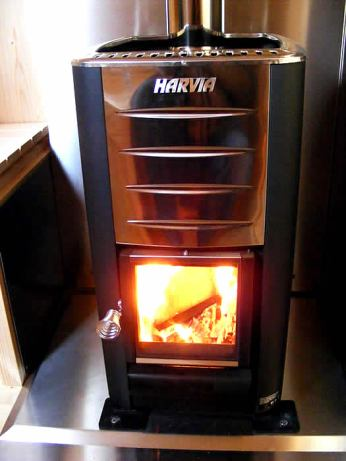 Ultra-modern wood burner.
