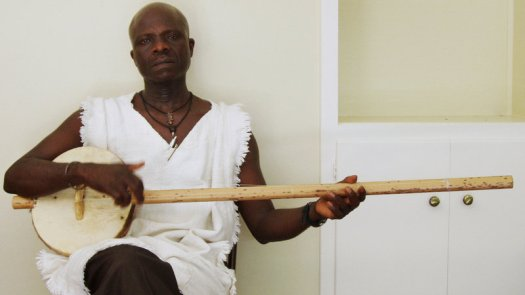 An interesting article on NPR about the akonting: a three-stringed instrument with a long neck and a body made from a calabash gourd with a goat skin stretched over it.
