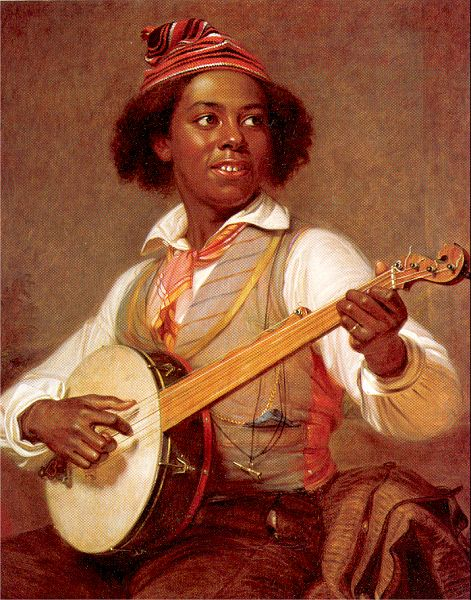 The Banjo Player by William Sydney Mount, 1856.