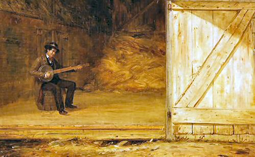 A lonely but beautiful image of a lone musician.