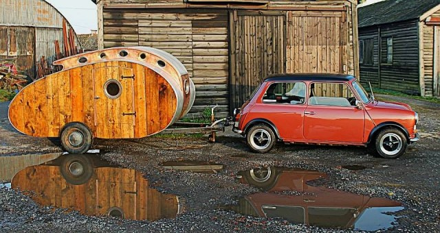 Small enough to be pulled by a classic Mini? Now that's cool.