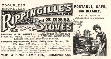 1910s UK Rippingilles Stoves Magazine Advert