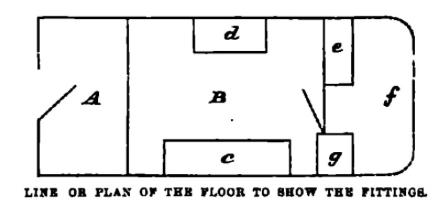 Line drawing of the Wanderer's floor plan.