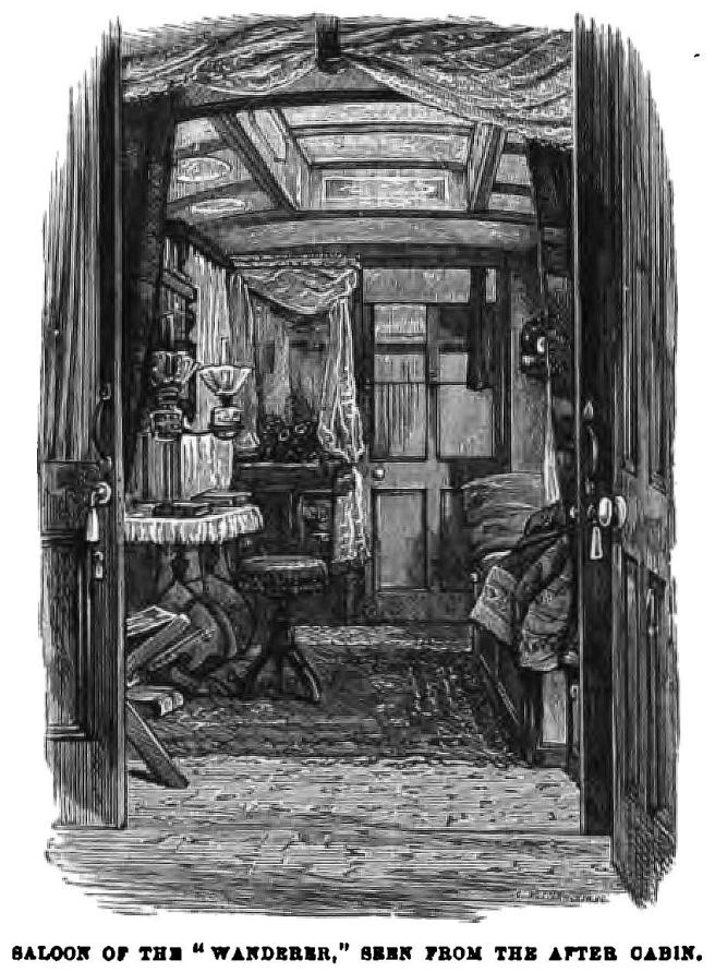 Illustration from Stable's book about his 1300 mile journey in the Wanderer.