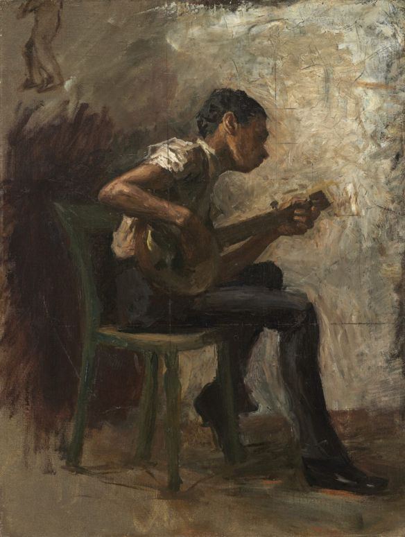 "Study for ""Negro Boy Dancing"": The Banjo Player, probably 1877, Thomas Eakins"