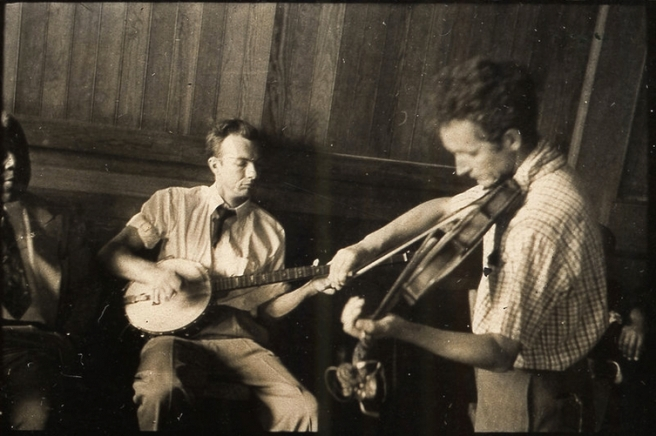 One of Woody Guthrie's final performances before the onset of Huntington's Chorea. Back to his fiddling roots.