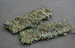 Replicated woven sandals from the Southern High Plains and the greater Southwest. Produced from narrow-leaf yucca.