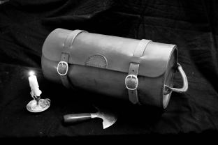 My Portmanteau. 18th Century style, it has become my favorite overnight bag.