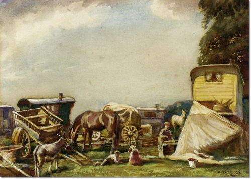 alfred-munnings-gypsy-encampment