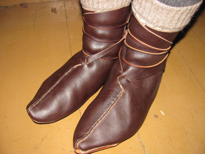 Reconstructed Oseberg Viking Shoes