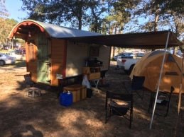 The actual living space of a vardo is the great outdoors with the camper itself serving as a secure sleeping and foul weather quarters.